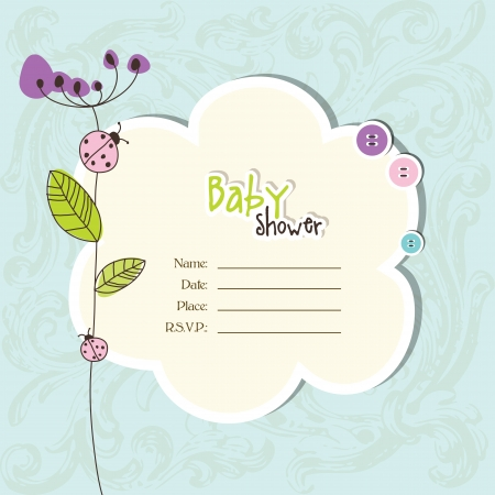 stationery: Baby shower invitation with copy space