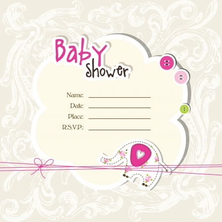Baby shower invitation with copy space Stock Vector - 17134974