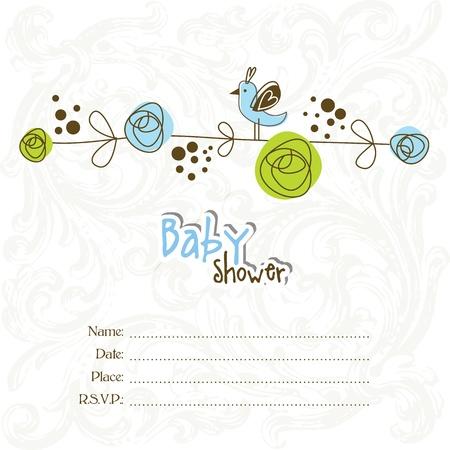 shower b�b�: Baby shower invitation avec copie espace