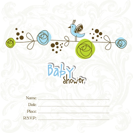 invitacion baby shower: Invitaci�n de la ducha de beb� con copia espacio