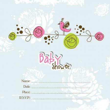invitacion baby shower: Invitación de la ducha de bebé con copia espacio