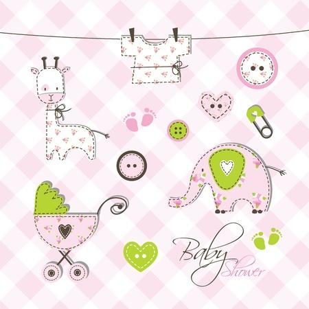 Baby album - Scrapbook design elements Stock Vector - 17568785