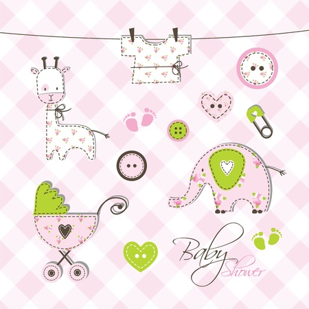 Baby album - Scrapbook design elements Stock Vector - 17568785