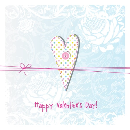 Valentine card with copy space Stock Vector - 17568272