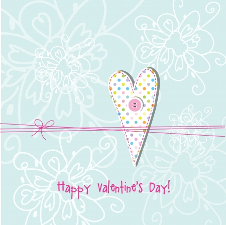 Valentine card with copy space Vector