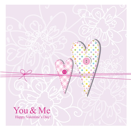 Valentine card with copy space Stock Vector - 17568259