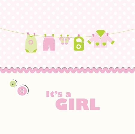 ropa de beb�: Tarjeta linda con copia espacio