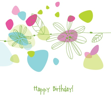 Greeting card with copy space Stock Vector - 20027633