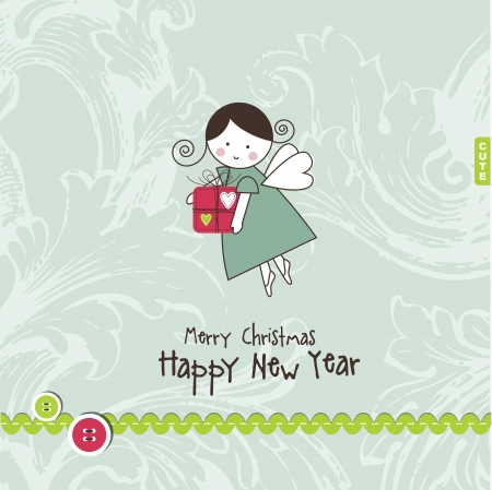 New year's card with copy space Illustration