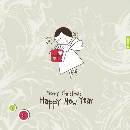 New years card with copy space Vector