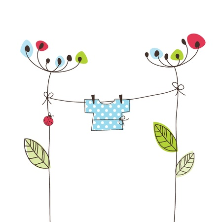 lady bug: Greeting card with copy space