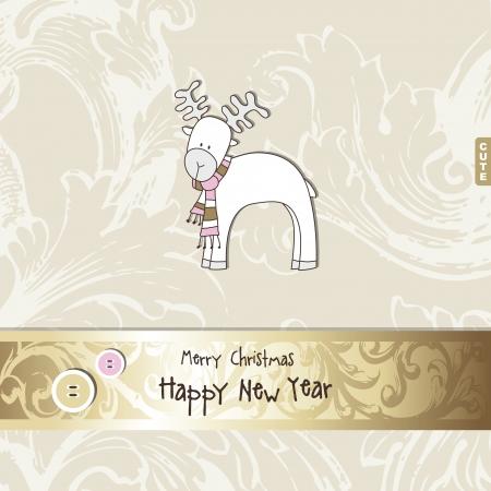 moos: New year card Illustration