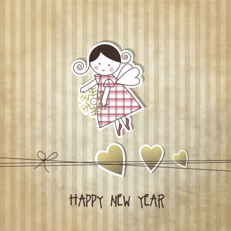 fairly: New year card with copy space