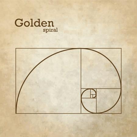 dorado: Proporción de oro Vectores