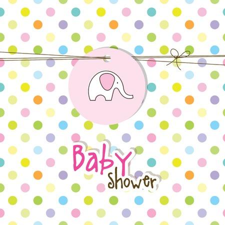 welcome party: Tarjeta de la ducha de beb�, tarjetas de invitaci�n Vectores