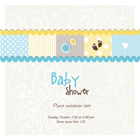 baby boy shower: Baby shower card, invitation card