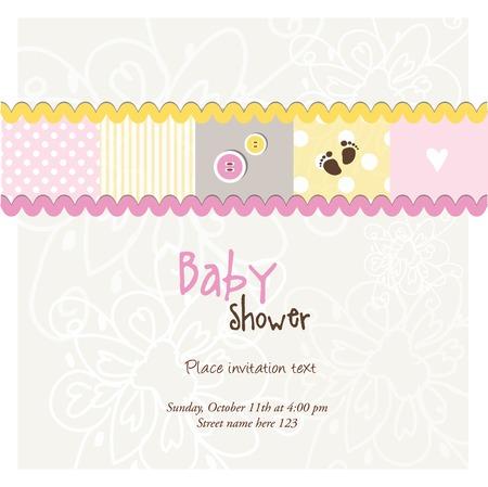 album background: Baby shower card, invitation card