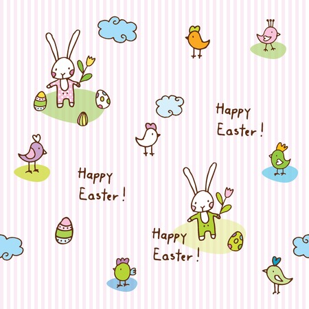 easter bunny, seamless pattern Vector
