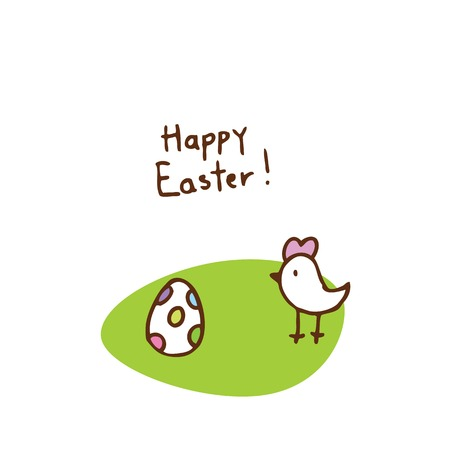 Easter egg, cute doodle design element Vector