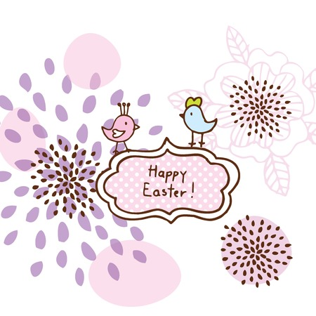 Easter card, cute doodle design element Vector