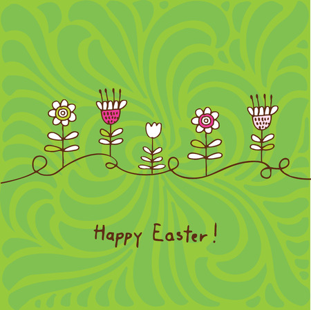 april beautiful: Easter card with copy space