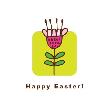 copy space: Easter card with copy space