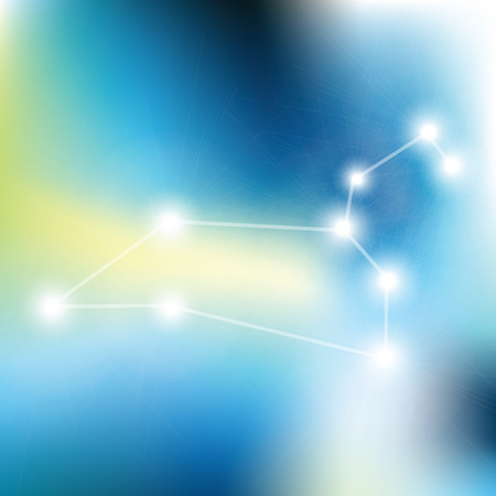 prognosis: Leo Zodiac sign stars in cosmos