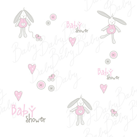 babygirl: Cute baby shower pattern Illustration
