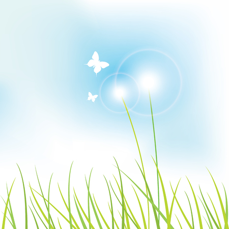 copies: Nature background with copy space Illustration