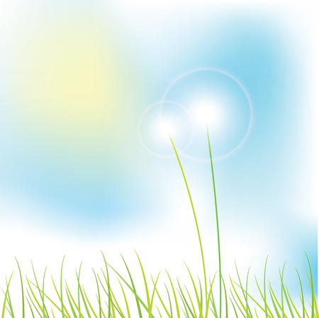copy: Nature background with copy space Illustration