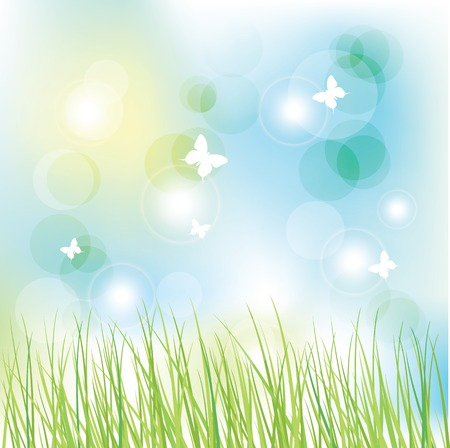 scrapbook: Nature background with copy space Illustration