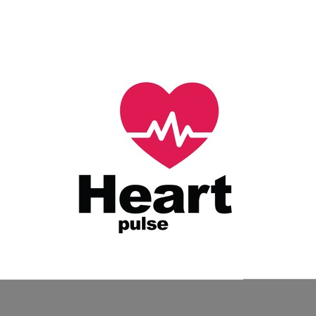 heart ecg trace: Heart beat - symbol - design element