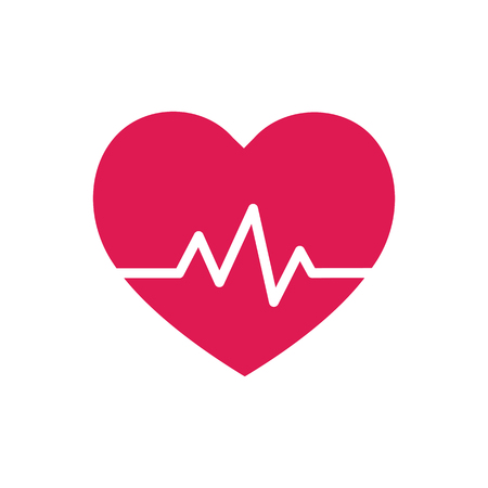 taking pulse: Heart beat - symbol - design element