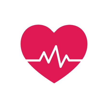 taking pulse: Heart beat - symbol - design element