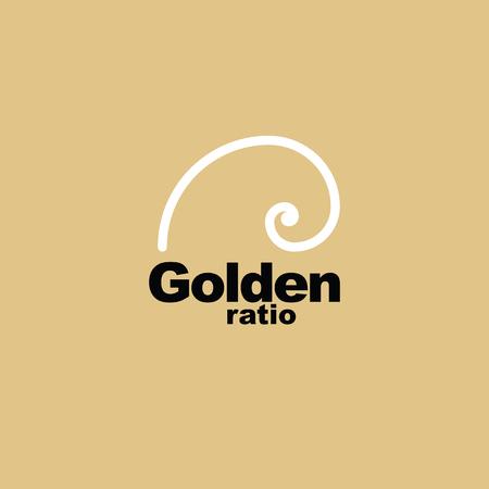 nombre d or: Ratio d'or - proportion - élément graphique Illustration