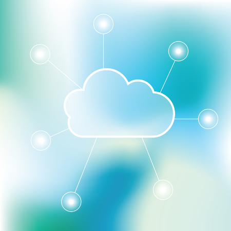 cloud: Cloud technology background - graphic element