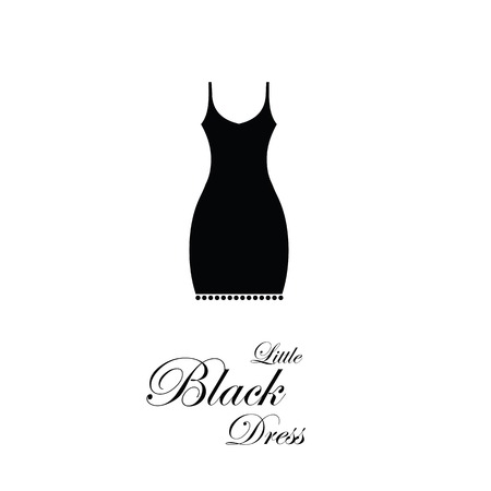 little black dress: Little Black Dress - design element