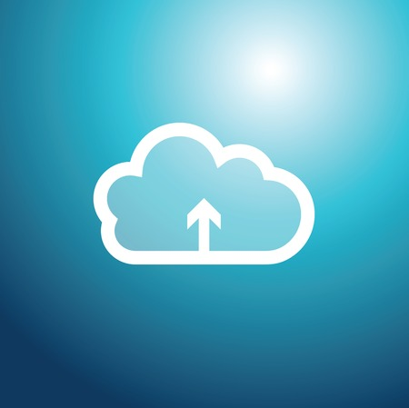 technology background: Cloud technology background - graphic element