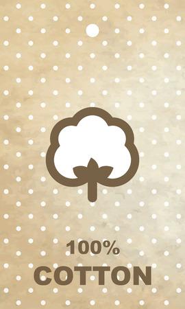 cotton: Cotton label Illustration