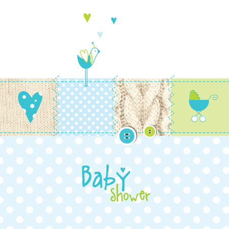 scrap: Baby shower greeting card
