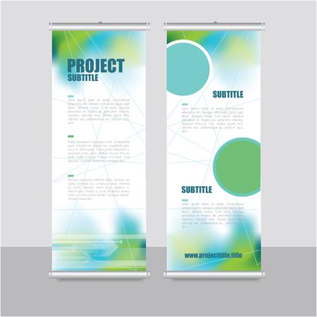 Roll up modello di banner - design di presentazione, disegno astratto