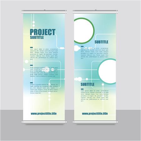 Roll up banner template- presentation design Illustration