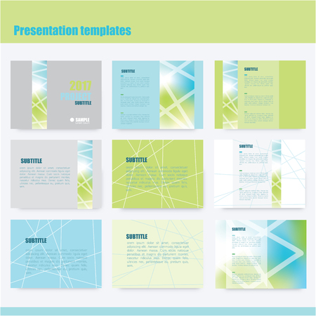 web design banner: Business presentation slide templates - power point template design
