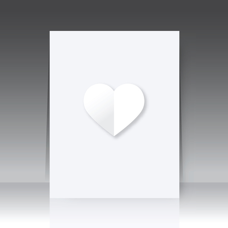 notebook paper: Notebook cover with paper heart