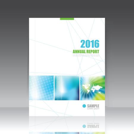 アニュアル レポート カバー、パンフレット作成用テンプレート  イラスト・ベクター素材