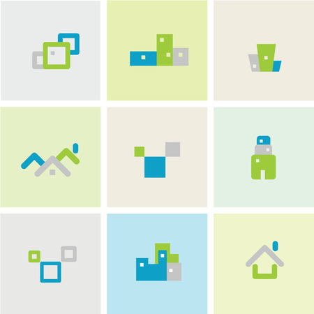 icons: House building icons