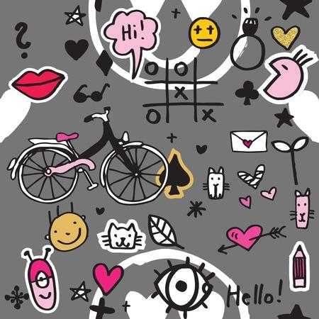 Graffiti: Background design - seamless pattern for design Illustration