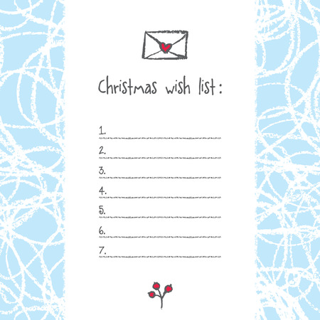 1132 Christmas Wish List Illustrations Cliparts And – Christmas Wish List Templates