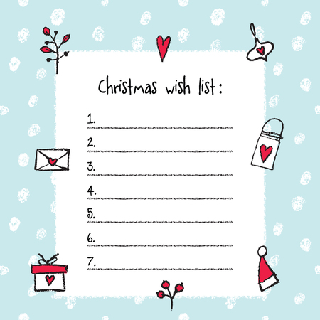 Doc8591100 Free Printable Christmas Wish List Template Free – Christmas Wish List Template