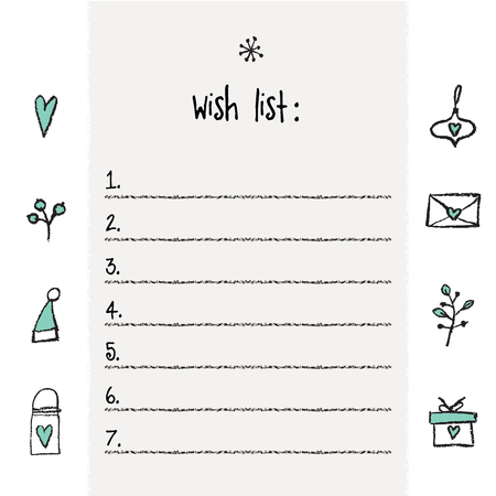 Doc453576 Wishlist Template 17 Best ideas about Christmas – Printable Wish List Template